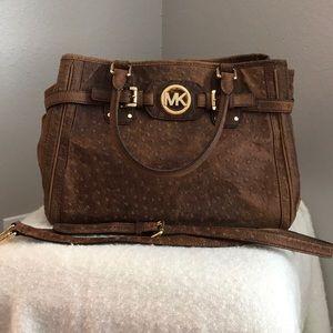 ✨Authentic Michael Kors Ostrich leather handbag!✨